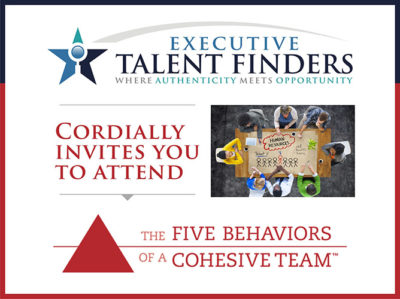 Exectutive Talent Finders Invitation graphic